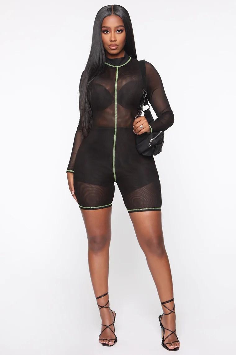Post Gym Selfie Jumpsuit - Black 3