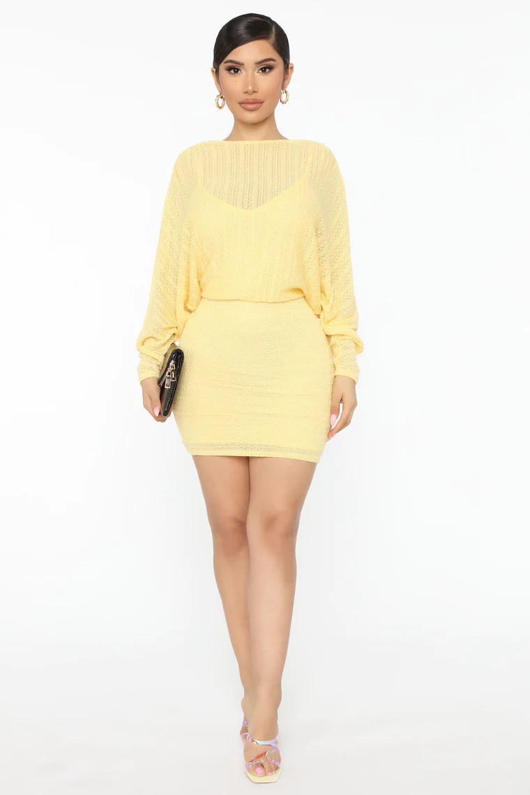 Great Intentions Mini Dress - Yellow 2