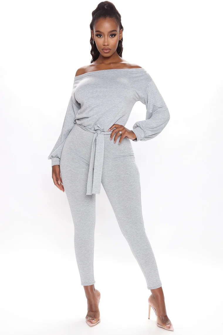 Expecting You Soon Jumpsuit - Heather Grey 2