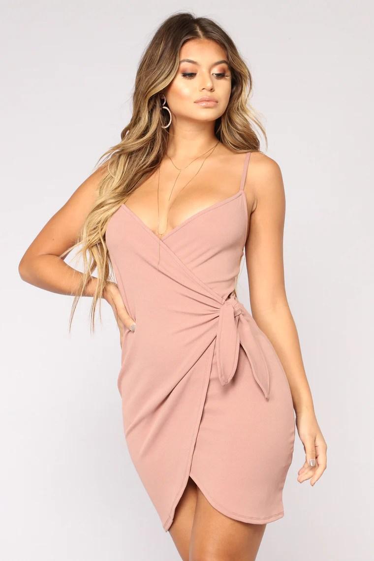 Liliana Wrap Dress - Mauve 4