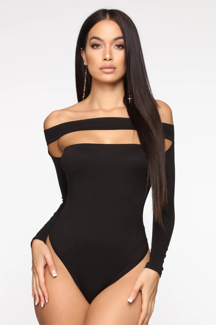 Not The Same Long Sleeve Bodysuit - Black 12