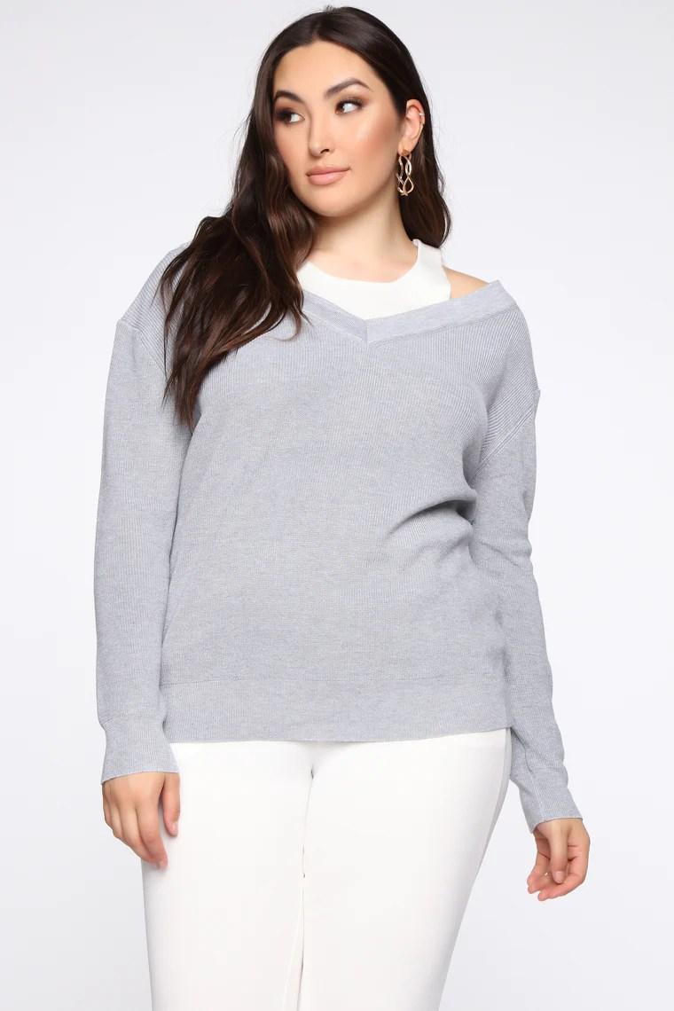 Indeed It's Mine Sweater - Grey 8