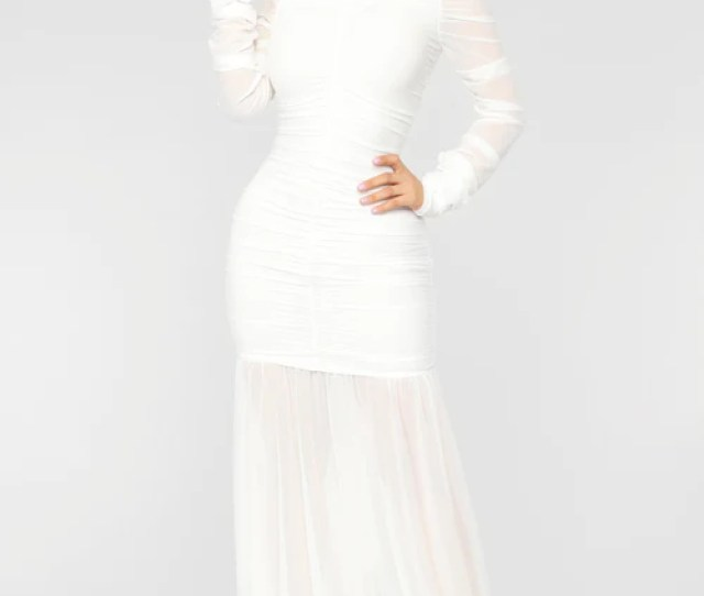 Cardi Party Ruched Dress White