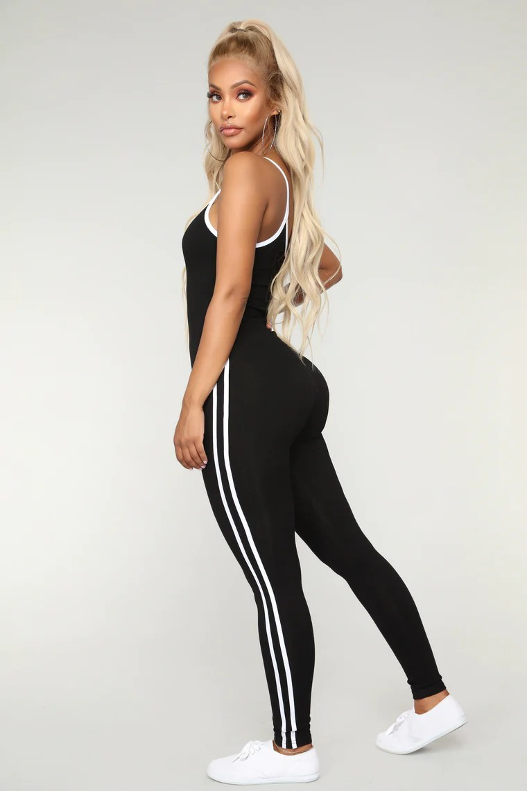 Post Gym Selfie Jumpsuit - Black 2