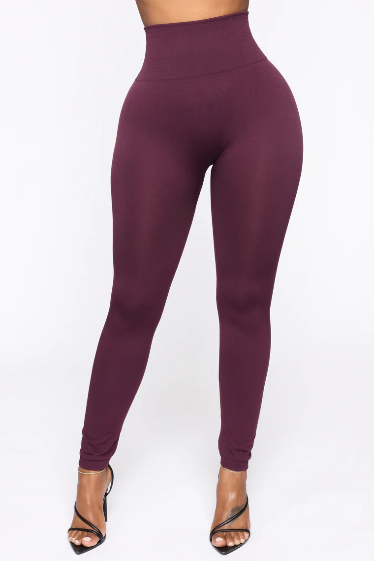 Smooth It Out High Rise Legging - Plum 6