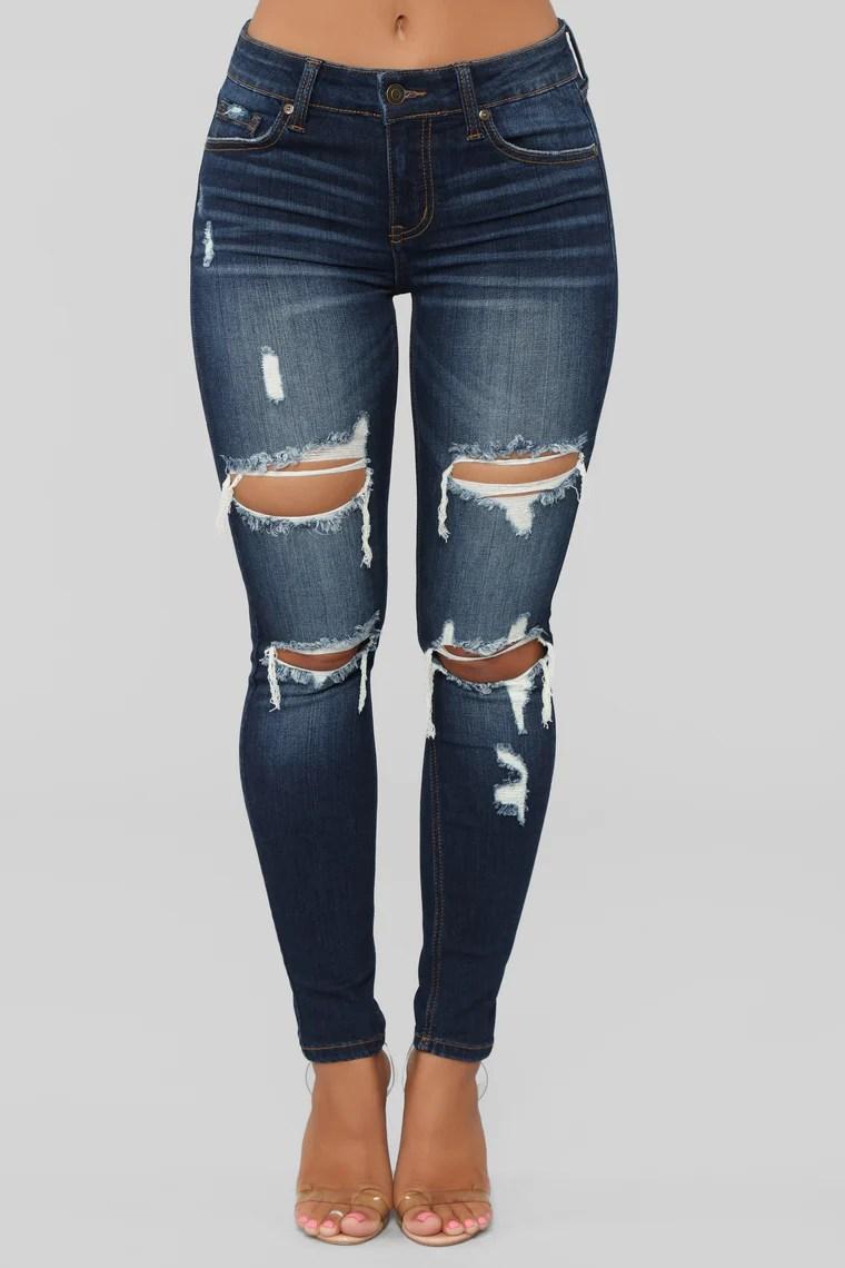 Well Played Skinny Jeans - Dark Denim 16