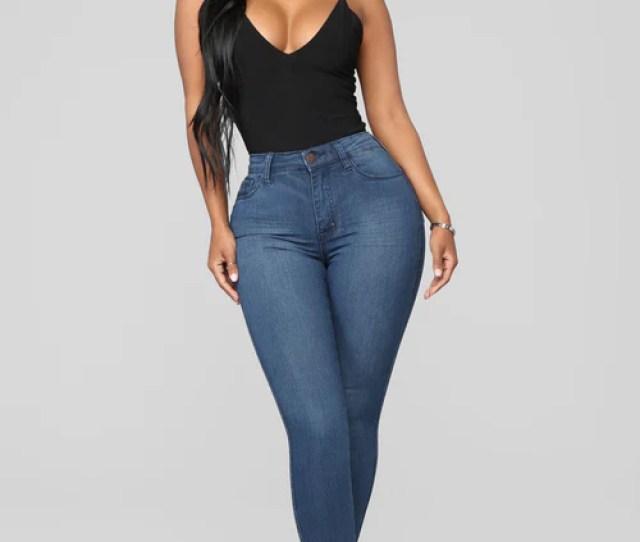 Luxe Glam High Waist Skinny Jeans Dark