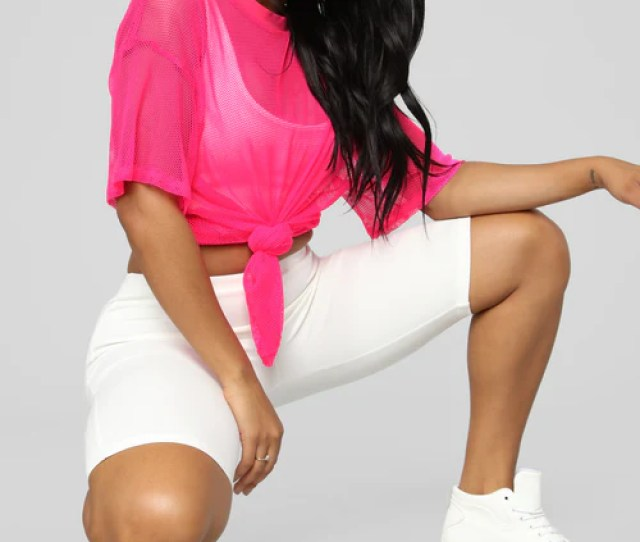 Your Bright Future Short Sleeve Top Neon Pink