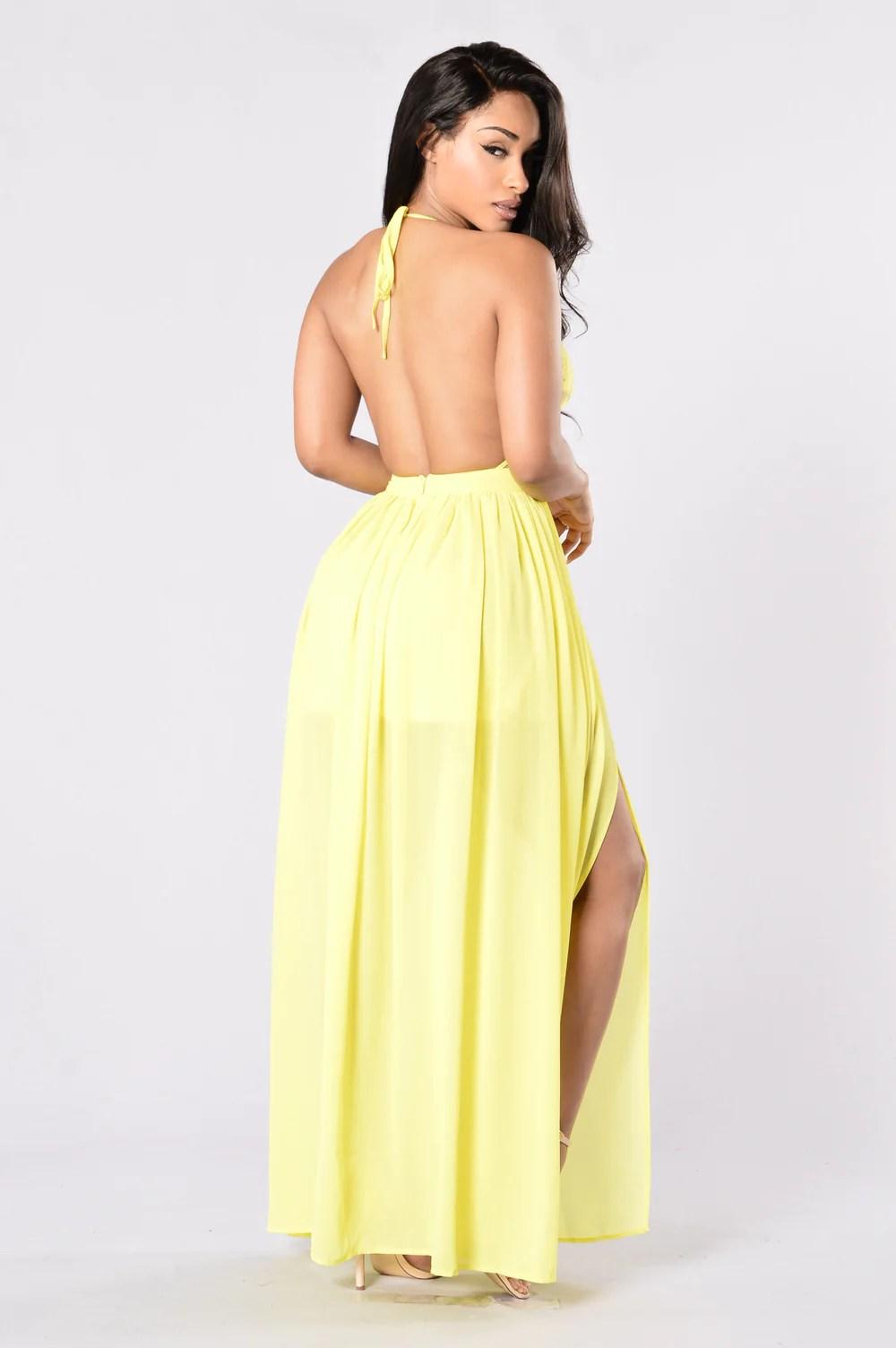 Yellow Fashion Nova Dresses