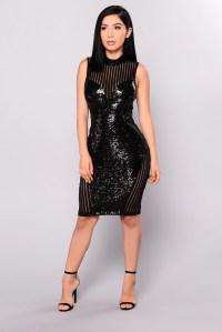 Girl On Top Sequin Dress - Black