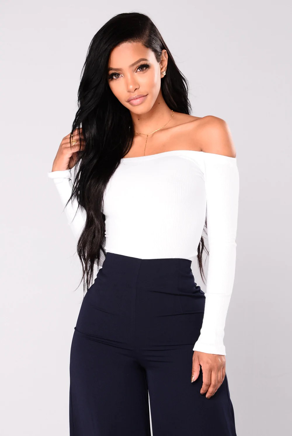 Overdrive Off Shoulder Top  White