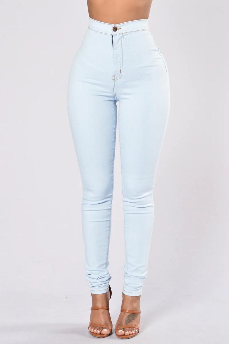 Womens Jeans  Boyfriend Denim High Waisted Mom Skinny