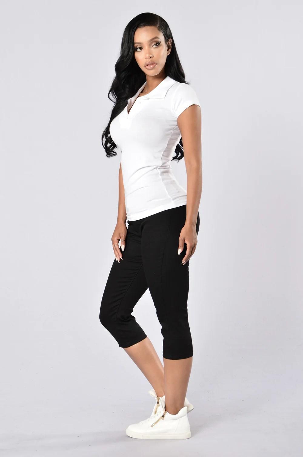 Capri Uniform Pants - Black
