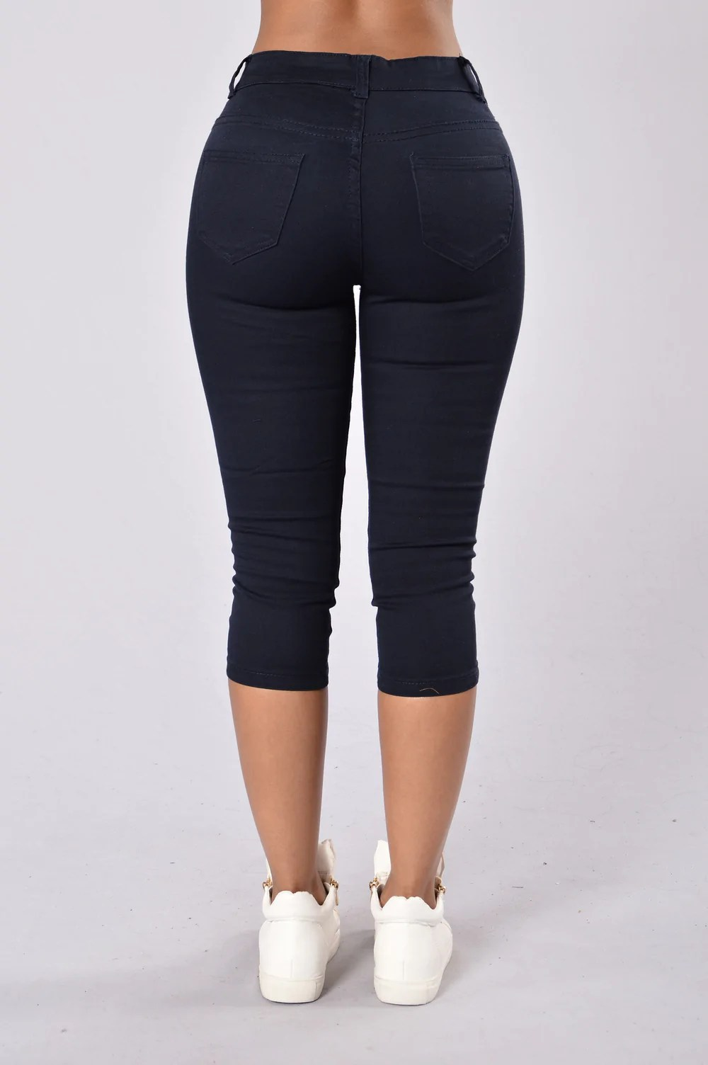 Capri Uniform Pants - Navy