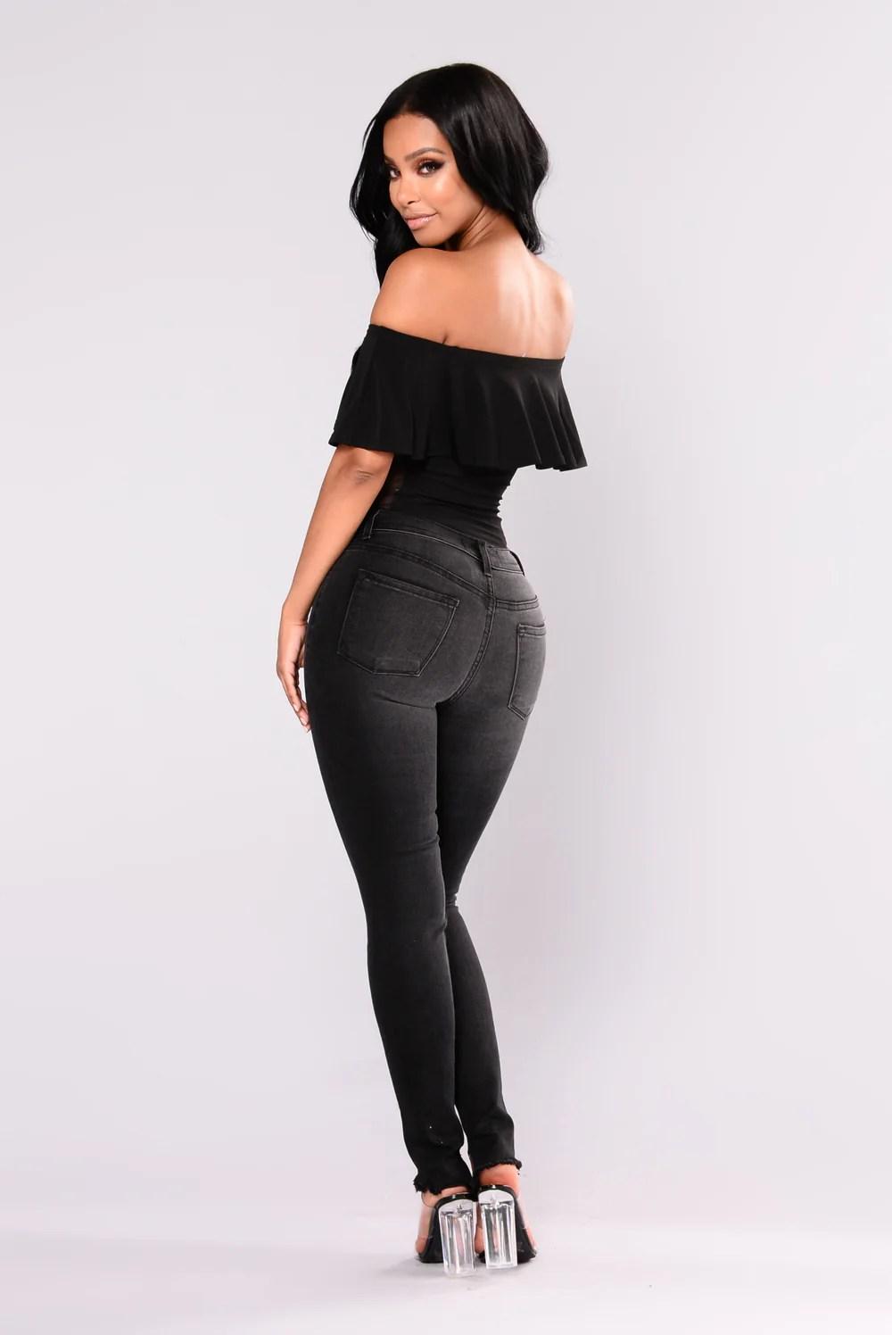 Melissa Sheer Sides Bodysuit - Black