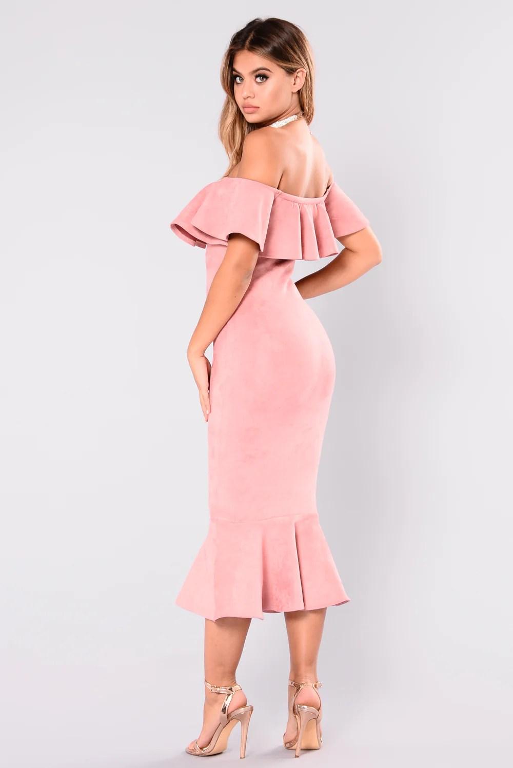 Aliana Suede Dress