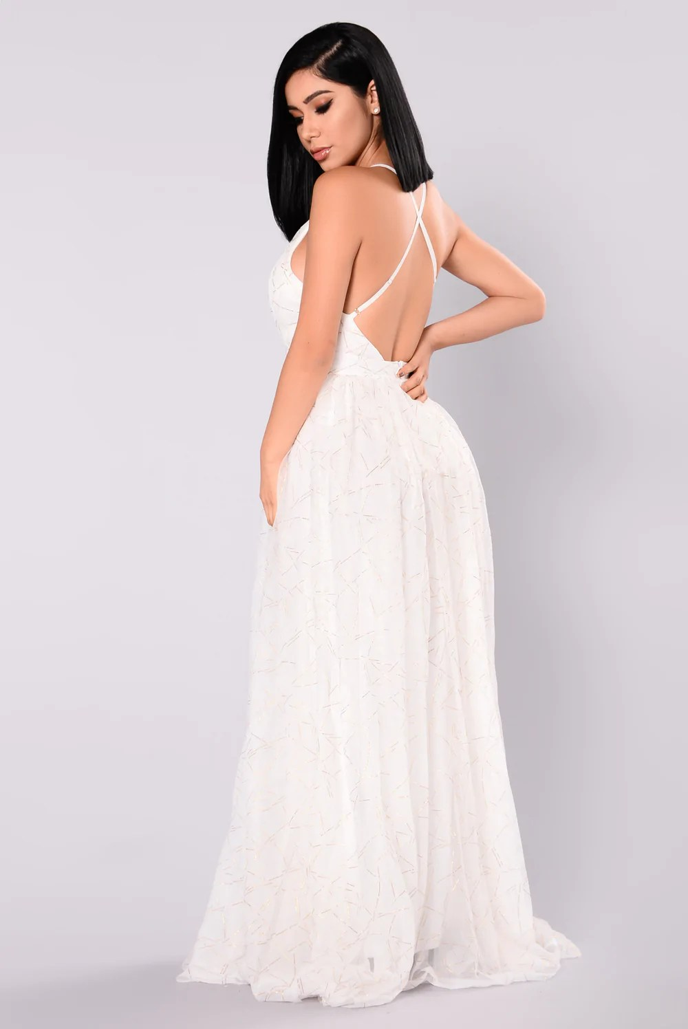 White Maxi Dress Fashion Nova