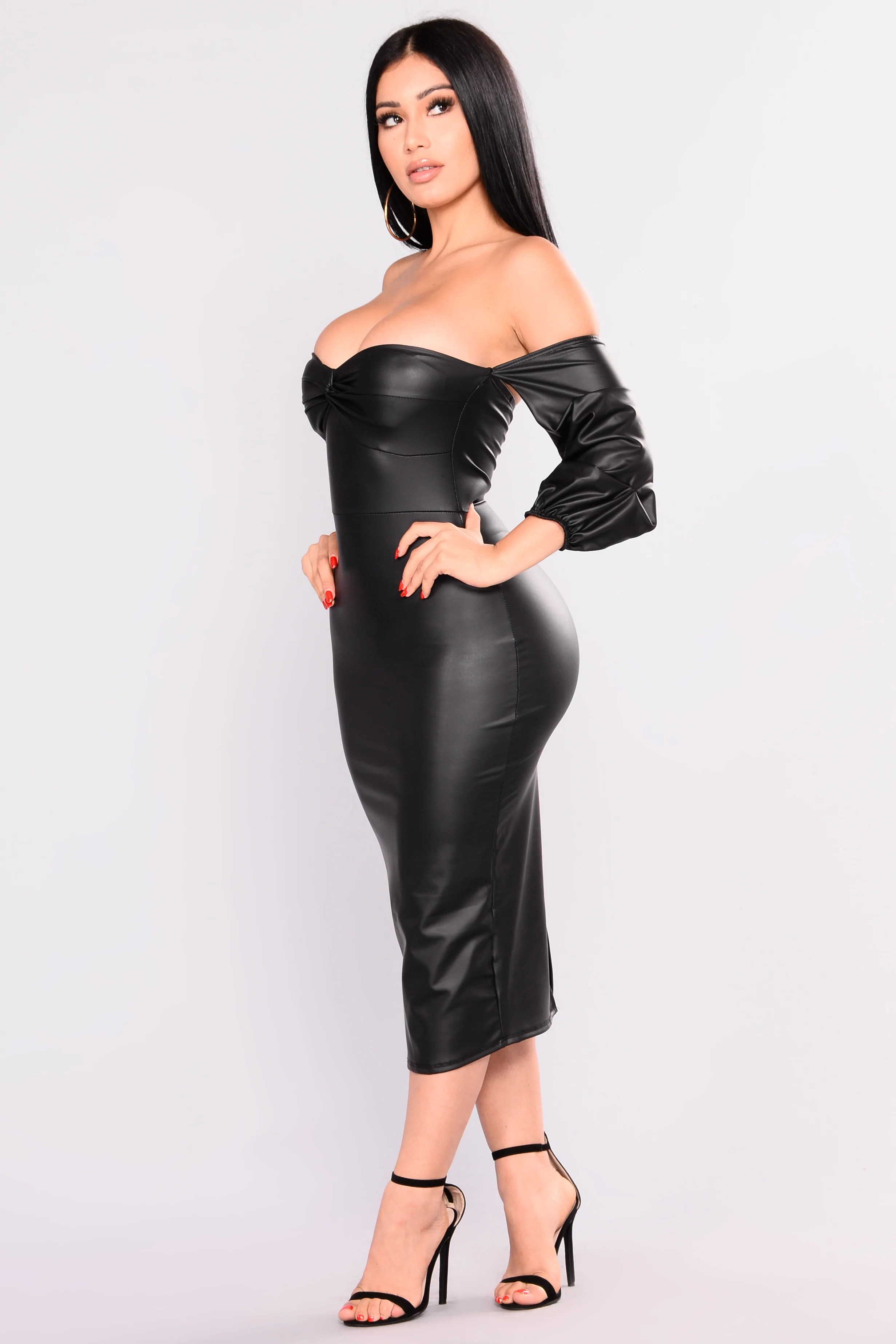 Wild Rider Leather Dress - Black