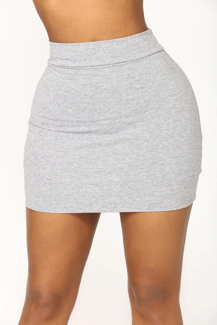 Melanie Mini Skirt - Heather Grey 12
