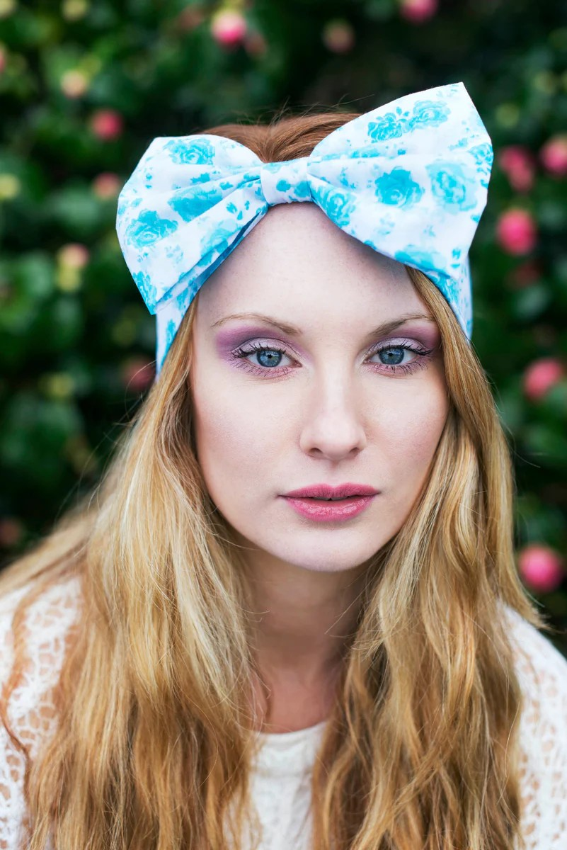 floral rose bow headband dolly