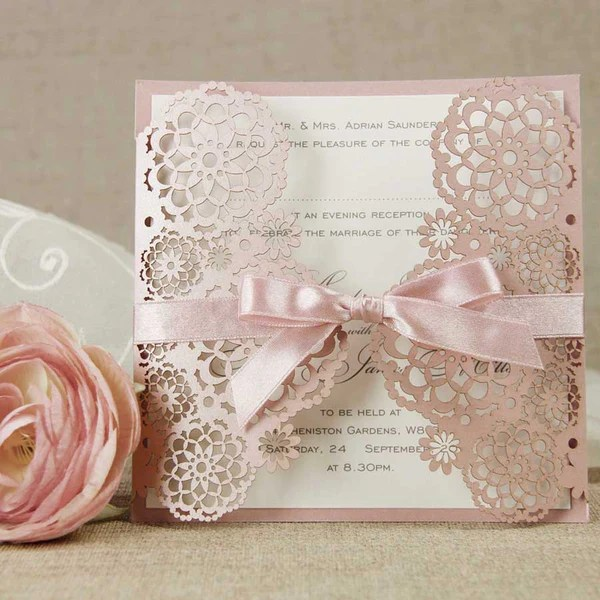 Laser Cut Lace Wedding Invitations Uk