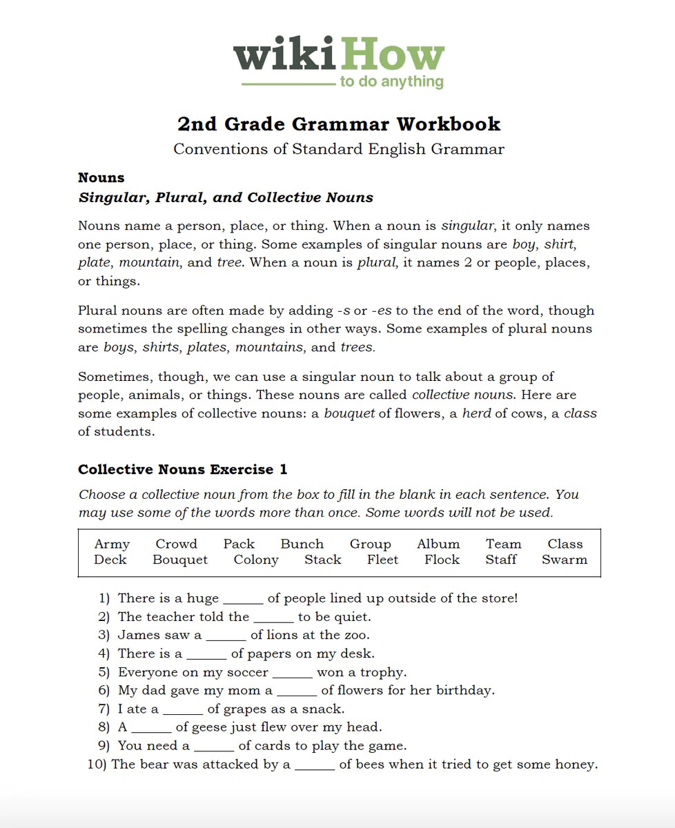 small resolution of Second Grade Grammar and Conventions – wikiHow