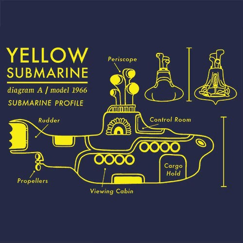 Yellow Submarine T Shirt Blueprint Textual Tees