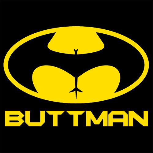Buttman T Shirt Funny Comic Word Play Textual Tees