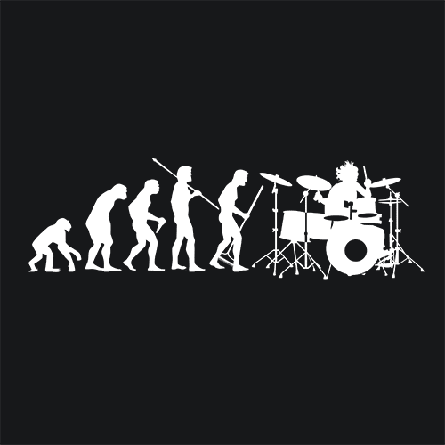 Drummer Evolution T Shirt Music Apparel Textual Tees