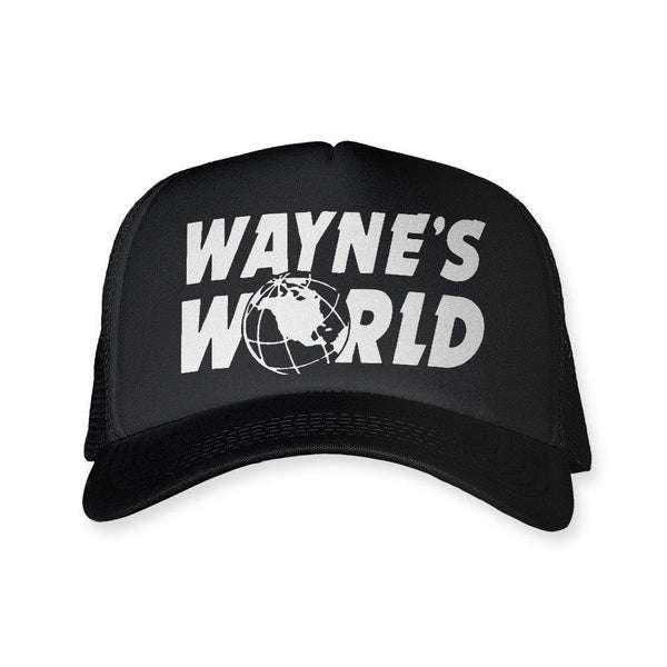 Waynes World Hat Costume Trucker Cap Textual Tees