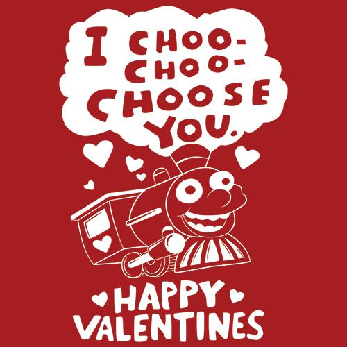 I Choo Choo Choose You T Shirt Valentines DayTextualTees