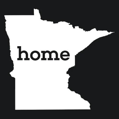 Minnesota Home T Shirt Custom Made Textual Tees