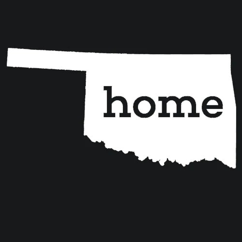 Oklahoma Home T Shirt Custom Made Textual Tees