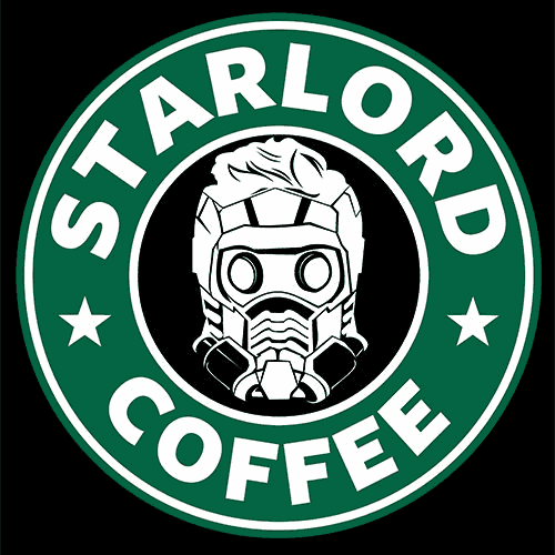 Star Lord Coffee T Shirt Mashup Apparel Textual Tees