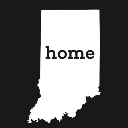 Indiana Home T Shirt State Pride Amp Love Textual Tees