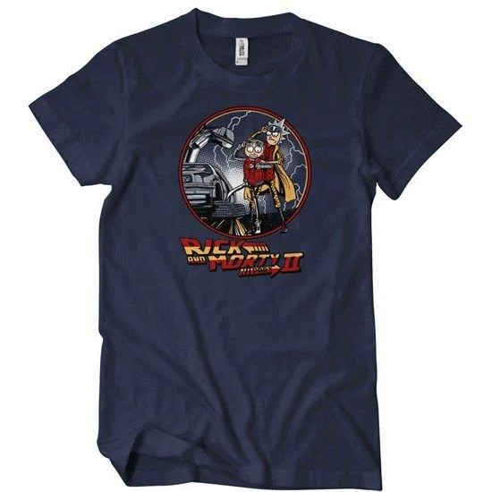Rick And Morty Back To The Future Mash Up T Shirt