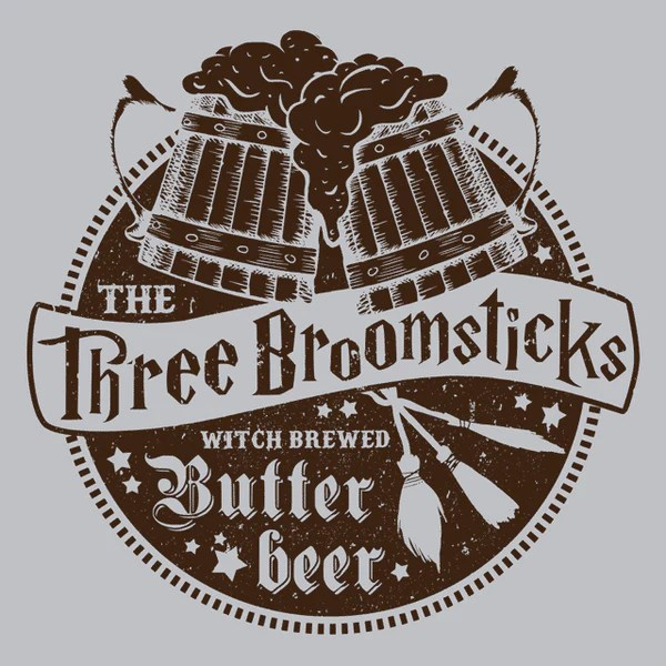 The Three Broomsticks T Shirt Wizard Tee Textual Tees