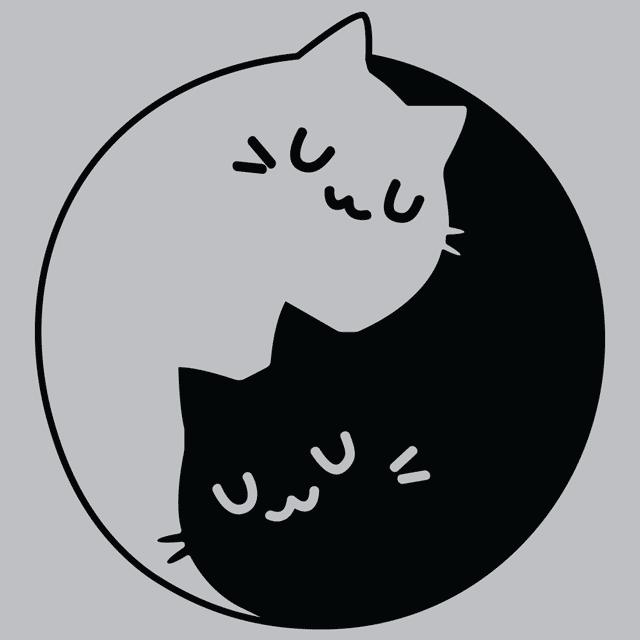 yin yang cats t