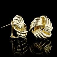 Tiffany & Co. 18K Yellow Gold Love Knot Earrings | Long's ...