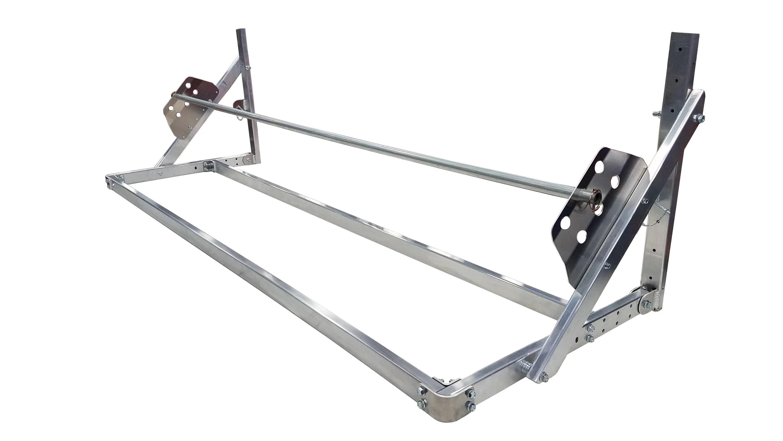 flip up tire rack for trailer garage
