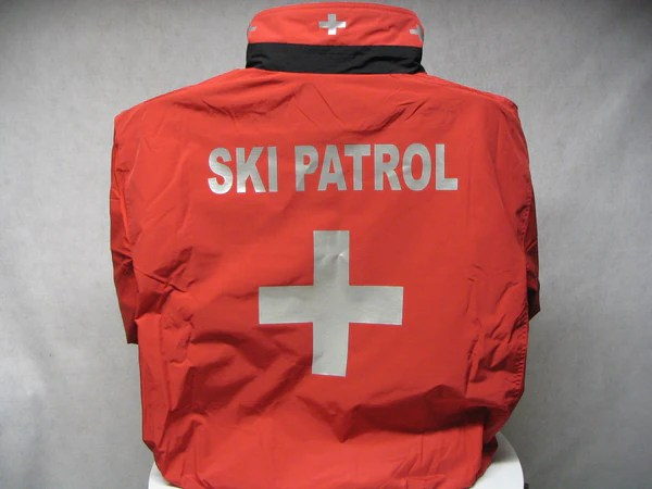 reflective custom printed ski