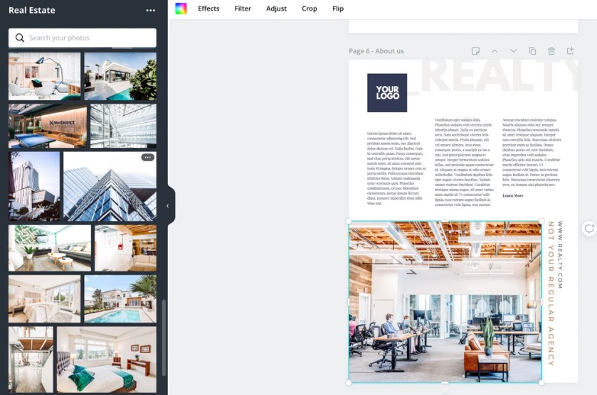 Ebook Canva Template Adding images