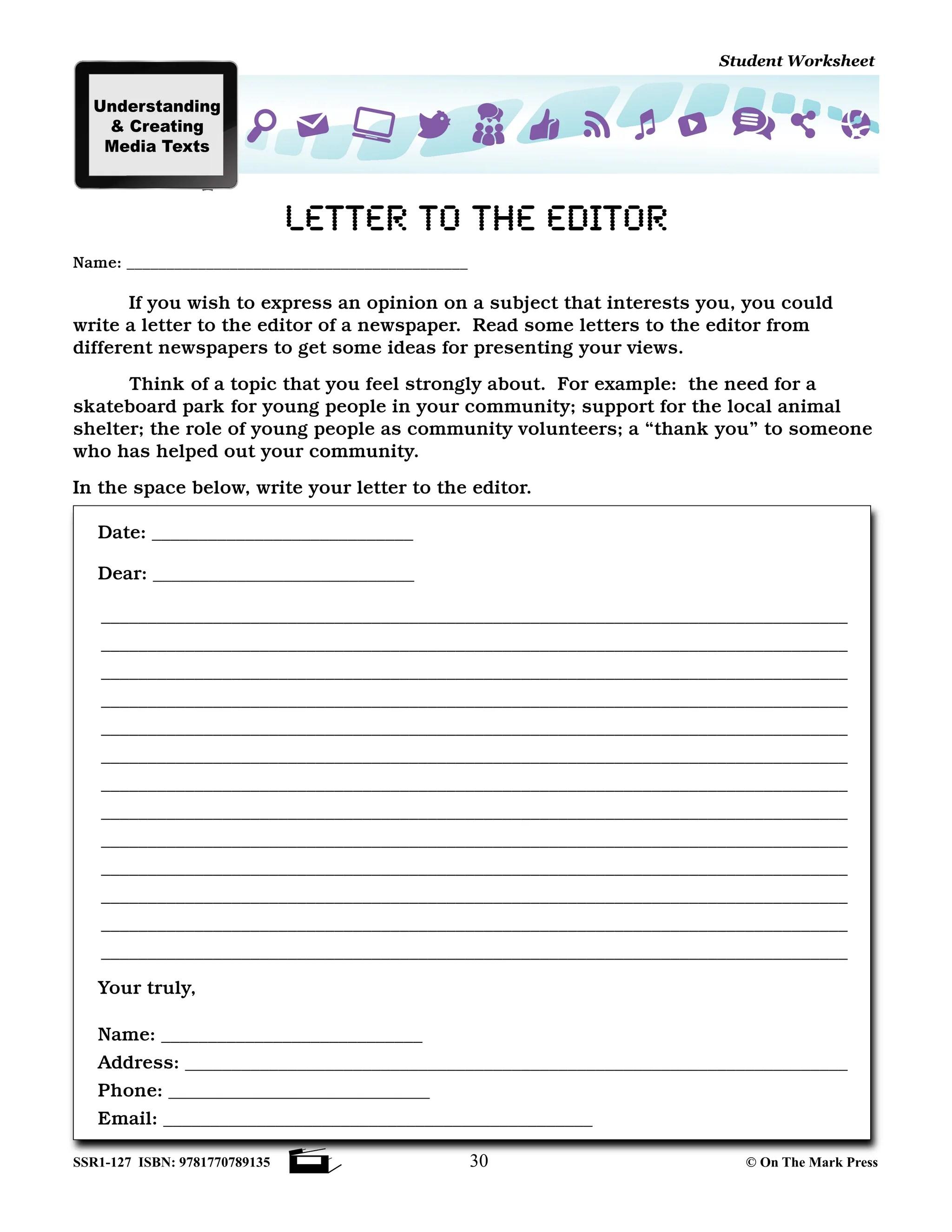 hight resolution of Canadian Media Literacy Grades 4-6 - On The Mark Press