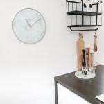 Nextime Wall Clock 40 Cm Glass Metal White Marble Nextime Clocks