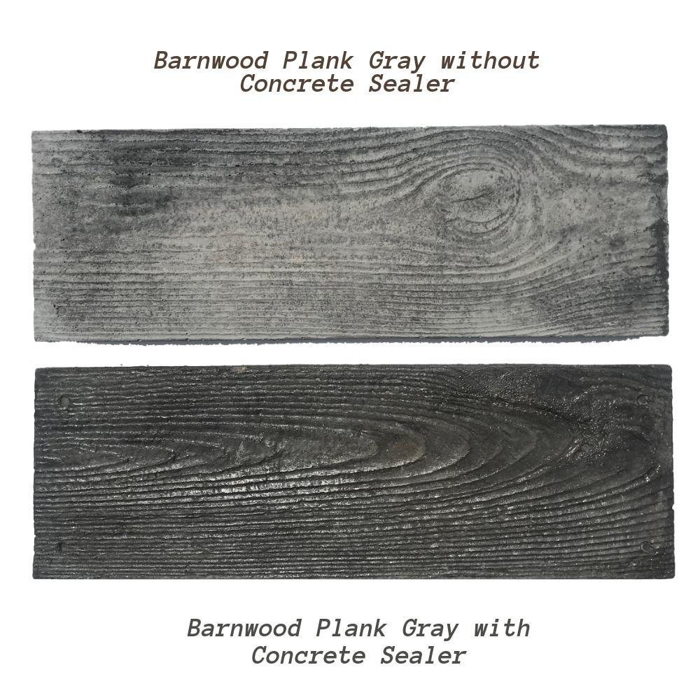 75 sq ft gray barnwood plank patio on