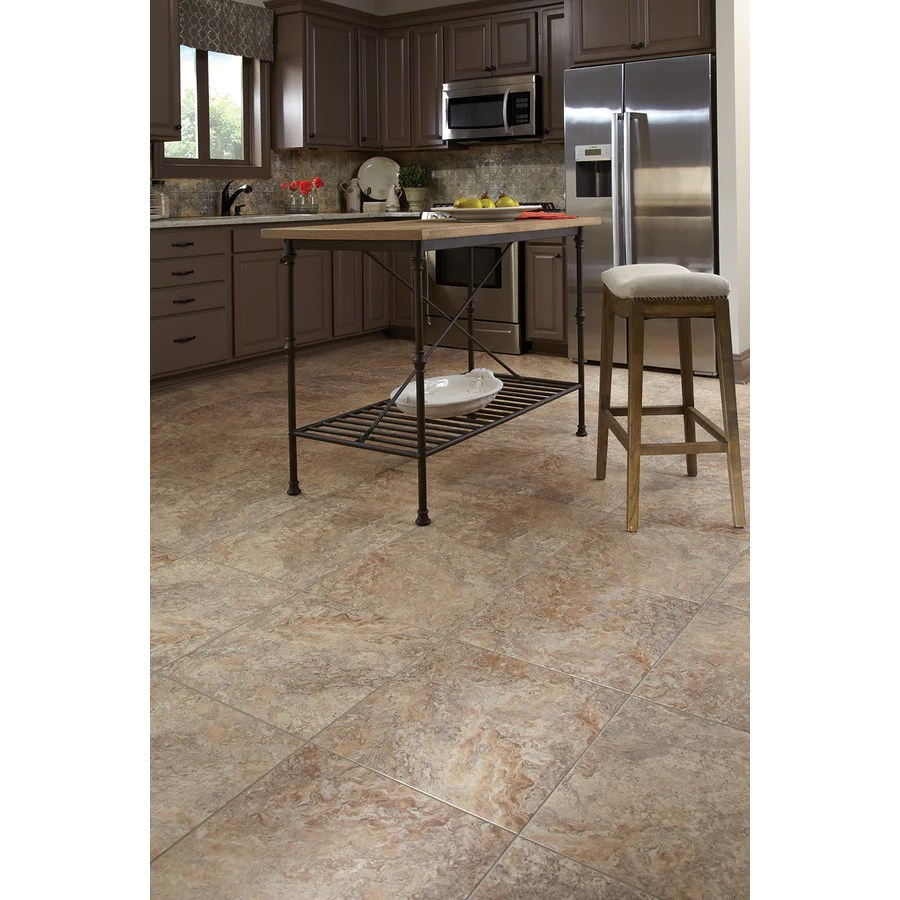 style selections 18 in x 18 in groutable castaway peel and stick luxury vinyl tile