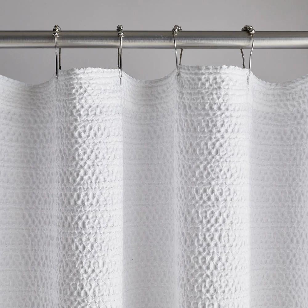 lattice matelasse 72 in white cotton shower curtain in stock hardwarestore delivery