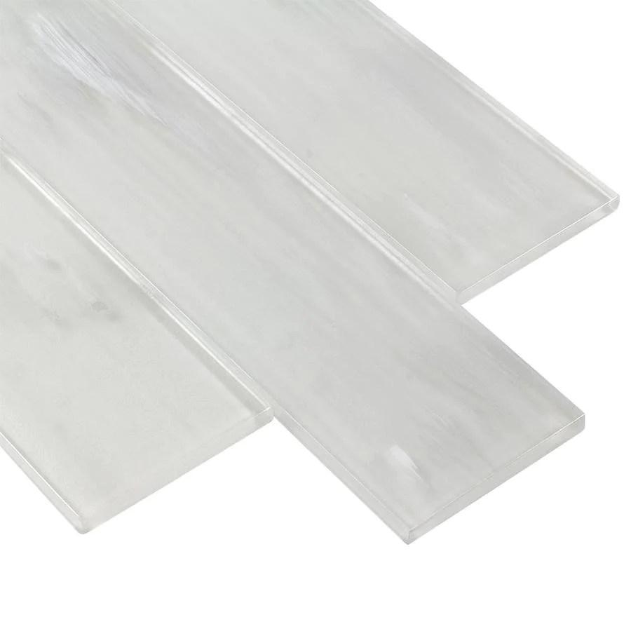 glossy glass subway wall tile