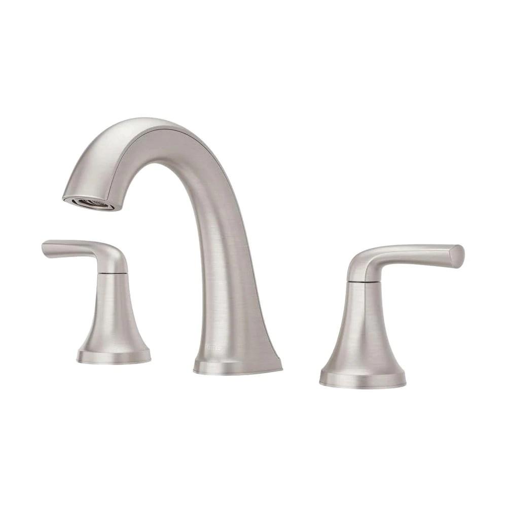 ladera 8 in widespread 2 handle bathroom faucet in spot defense brush in stock hardwarestore delivery