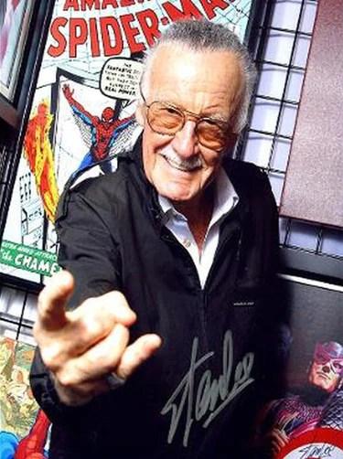 stan lee spiderman marvel comic signed autographed photo poster print memorabilia